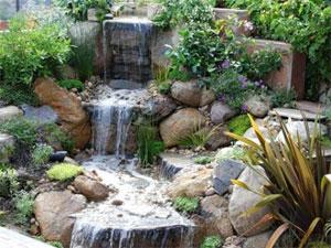 Водопа в саду своими руками